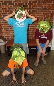 WordSparks students preparing for their Green Man play