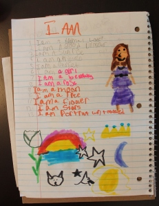 """I Am"" poem from WordSparks Camp workshop"