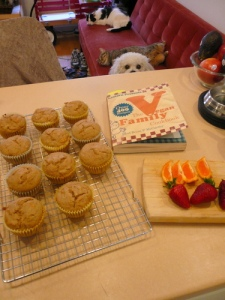 When I did a photo search on Flickr for Creative Commons images of muffins, I learned two things: people like taking photos of muffins and there are many cats named Muffin. Take that, Mortimer. Ohh, I think that's my new idea for PiBoIdMo -- Mortimer and Muffin! At any rate, this photo by Elaine Vigneault. Thanks, Elaine, for sharing. Love your puppy's puppy dog eyes!