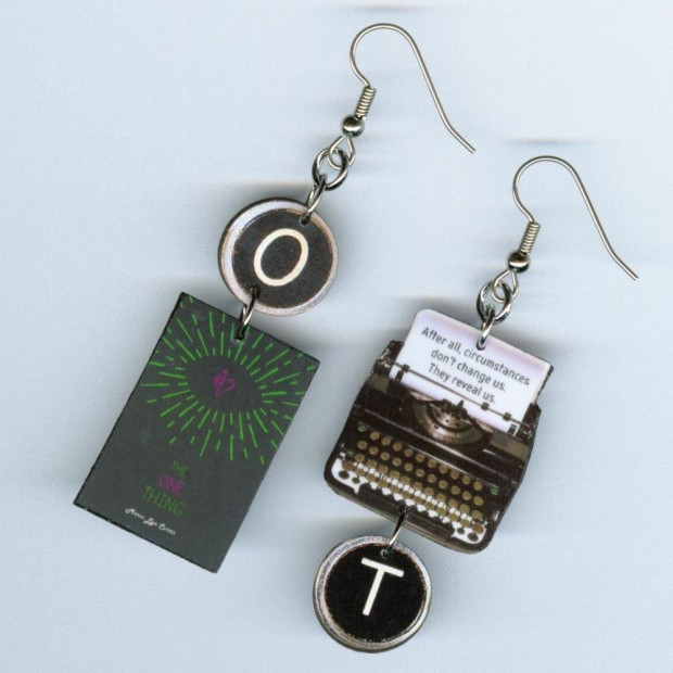 custom earrings book swag