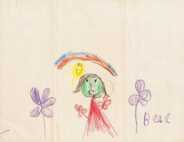 Childhood drawing by Cece Bell when in hospital